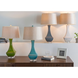 Classic Relic 1-light Turquoise Reactive Glaze Desk Lamp