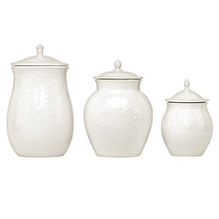 Lenox French Perle White 3-piece Canister Set
