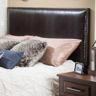 Christopher Knight Home Hilton Adjustable Full/ Queen Bonded Leather Headboard