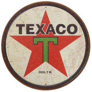 Vintage Metal Art 'Texaco' Decorative Tin Sign