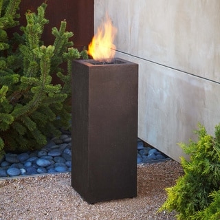 Real Flame 13.25 x 13.25 x 34.25-inch Kodiak Brown Baltic Fire Column