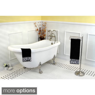 Vintage Collection 67-inch Acrylic Slipper Clawfoot Tub