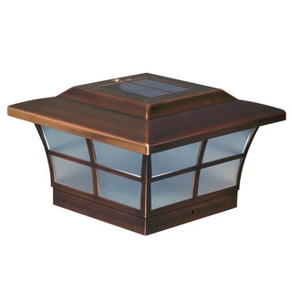 6x6 Copper Plated Prestige Solar Post Cap (Set of 2)