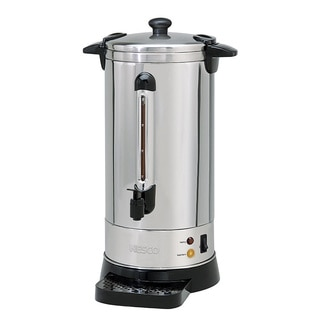 Nesco 50-cup Stainless Steel Double Applwall Coffee Urn Locking Lid