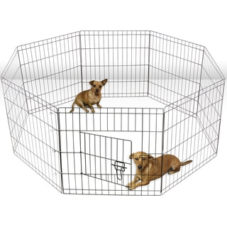 OxGord Metal 8-panel Portable Wire Exercise Dog Playpen