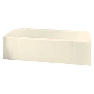 Accord 5-foot Left Drain Biscuit Soaking Tub