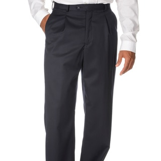 Cianni Cellini Men's Navy Wool Gabardine Pants