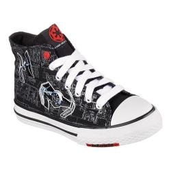 Children's Skechers Star Wars Cayden Sith Lord High Top Black/White