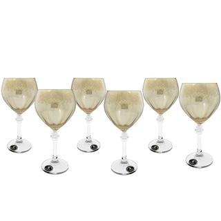Gold Tinted Italian Crafted Wine Glasses (Set of 6)