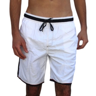 Azul Swimwear Men's 'Solid Scuba' White Swim Trunks