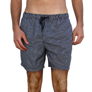 Azul Swimwear Men's 'Pinstripes' Navy Swim Trunks