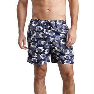 Azul Swimwear Men's 'Blue Fish' Navy Swim Trunks