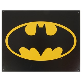 Vintage Metal Art 'Batman Logo' Decorative Tin Sign