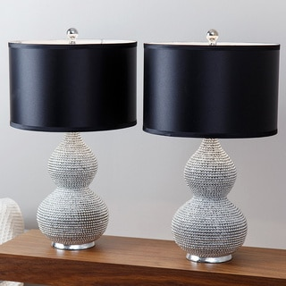 ABBYSON LIVING Silver Plated Sea Urchin Table Lamp (Set of 2)