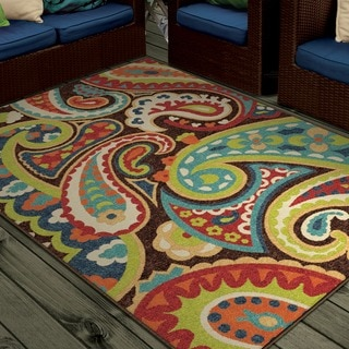 "Indoor/ Outdoor Promise Collection Monteray Multi Olefin Indoor/Outdoor Area Rug (3'10"" x 5'5"")"