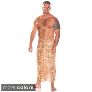 Men's Abstract Spiral Circle Design Sarong (Indonesia)