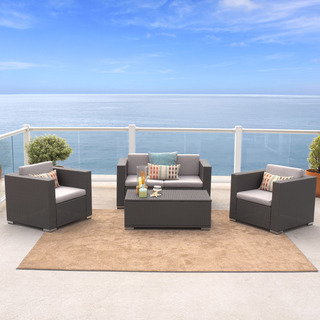 Christopher Knight Home Murano 4-piece Outdoor Wicker Sofa Set