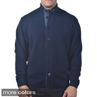 Men's Italian Cashmere Button-up Cardigan