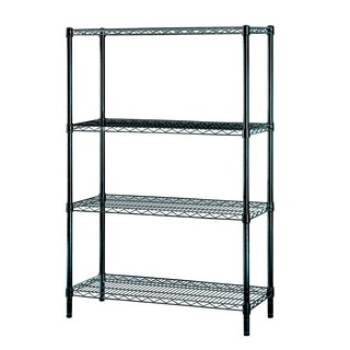 Excel Black (54 in. H x 36 in W x 14 in. D) Multi-Purpose 4-tier Wire Shelving