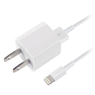 Apple White USB Travel Charger Adapter With 8-pin Lightning Cable MD818ZM/ A for Apple iPad/ iPhone 6/ 6 Plus/ SE/ iPad Pro