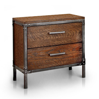 Furniture of America Anye Industrial Style 2-Drawer Nightstand