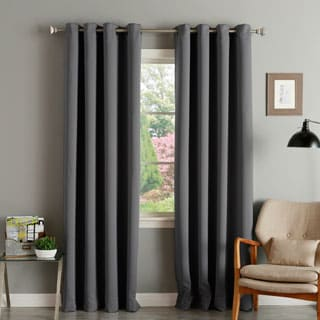 Aurora Home Thermal Insulated Blackout Grommet Top 84-inch Curtain Panel Pair