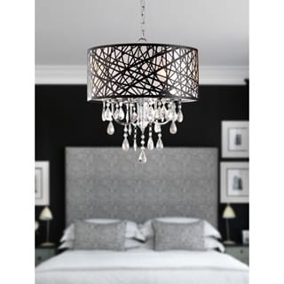 Indoor 4-light Chrome Antique Bronze Chandelier