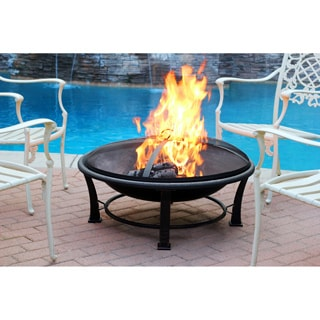 35-inch Golden Brush Steel Fire Pit