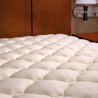 Extra-plush Rayon from Bamboo Top Mattress Pad