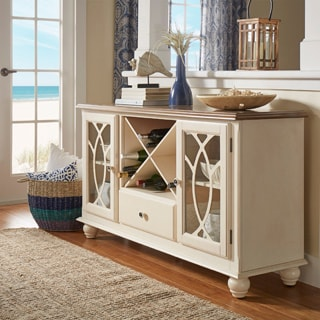 TRIBECCA HOME Shayne Country Antique White Buffet Sideboard