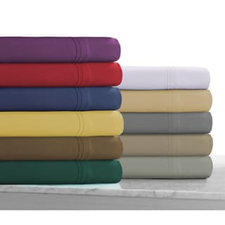 Super Soft Solid Extra Deep Pocket Easy-care Sheet Set with Oversize Flat