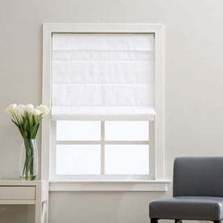 Cloud White Cordless Fabric Roman Light Filtering Shade