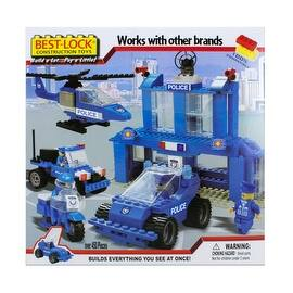 Best-Lock Construction Toys Police Department 450+ pieces!