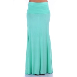 Simply Ravishing Women's Light Weight Stretch Flared Maxi Skirt