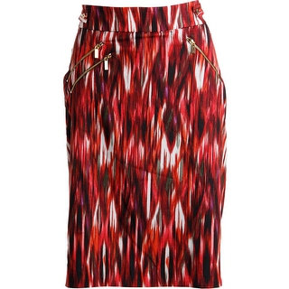 Calvin Klein Womens Printed Knee-Length Pencil Skirt