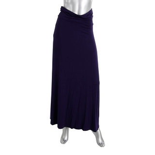 Design History Womens Solid Fold Over Maxi Skirt
