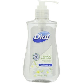 Dial Antibacterial Liquid Hand Soap, White Tea & Vitamin E 7.50 oz