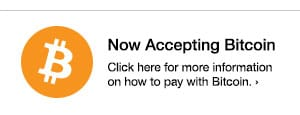 Now Accepting Bitcoin - Click here for more information on how to pay with Bitcoin.